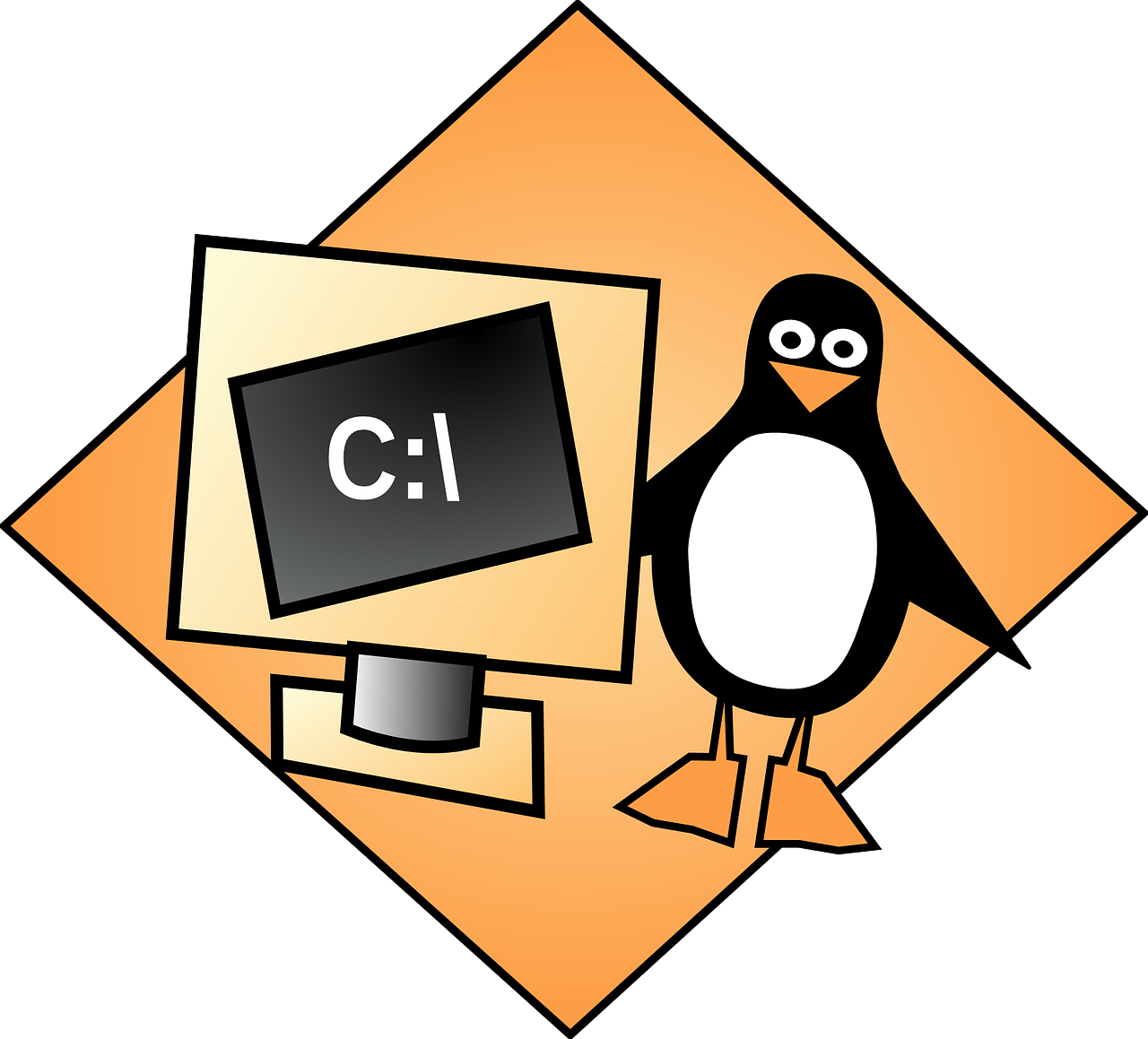 Engineering penguin, linux,